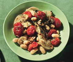 Olive Oil Roasted Tomatoes and Fennel with White Beans