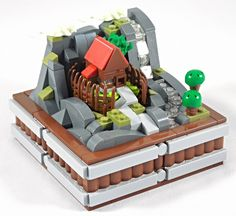 Who lives in this hut surounded by spikes? By Letranger Absurde Tag a friend who loves LEGO! Lego Army, Lego 4, Lego Custom Minifigures, Karate Kid, Lego Videos, Lego Display, Micro Lego, Amazing Lego Creations, Lego Activities