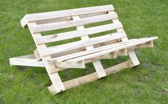 Pallet bench for our allotment.