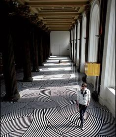 vinyl tape floor Glasgow Gallery of Modern Art