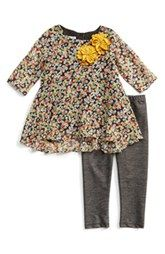 Pippa & Julie High/Low Tunic & Leggings (Toddler Girls)