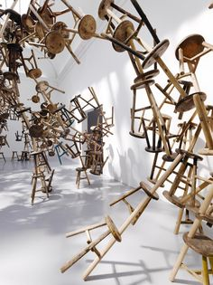 Ai Weiweis Bang installation at the French Pavillion for the 2013 Venice Art Biennale #InstallationArt