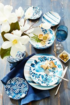 Pier 1's Azure Floral Dinnerware combines the crisp, clean look of blue on white with the romantic ease of flowers. Pretty enough for guests, our ironstone pieces work for family meals, too—they're dishwasher-safe and can be used in the microwave.