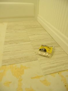 Bathroom Redo: Grouted Peel and Stick Floor Tiles Read more at http ...