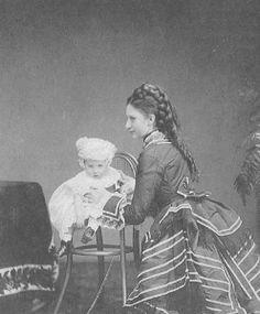 Lovisa and her baby.