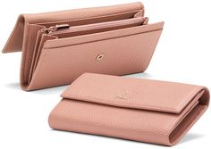 Gucci Swing Leather Continental Wallet, Light Pink