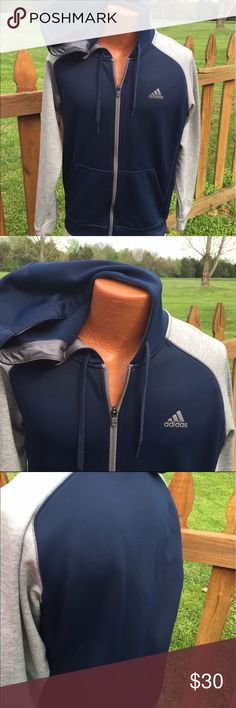 Adidas Mens Climawarm Zippered Jacket Size Medium Size medium. Super gently preowned. Be sure to view the other items in our closet. We offer both women's and Mens items in a variety of sizes. Bundle and save!! Thank you for viewing our item!! Adidas Jackets & Coats Performance Jackets