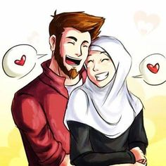 In Islam, Nikah is completing half your deen and is a strongest bond between husband and wife but some people don't share the same views who have lost faith be. Couples Musulmans, Vieux Couples, Cute Muslim Couples, Wedding Couples, Anime Couples, Wedding Couple Cartoon, Love Cartoon Couple, Cute Couple Art, Perfect Couple