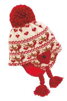 Kaufen Sie Rote Trappermütze mit weihnachtlichem Muster und Rotkehlchen (Jüngere Mädchen) heute online bei Next: Deutschland