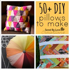 felt christmas pillow | Over 50 Great DIY Pillows to Make — Saved By Love Creations