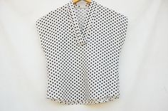 Vintage 80s-90s Short Sleeve Polka Dot Blouse by SycamoreVintage