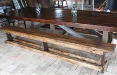 12' farm table with benches - Google Search