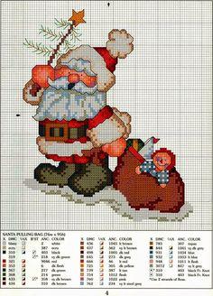 Ricami, lavori e schemi a puntocroce gratuiti: Tanti schemi per addobbi a punto croce - Natale