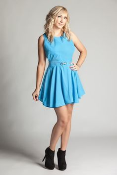 Baby blue skater dress - Louise Devlin Couture