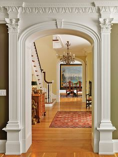 Very nice detail moulding. Oak-Hill-Hall-Stairs | Flickr - Photo Sharing!