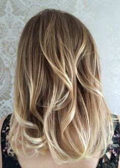 Blonde Ombre Hair, Sandy Blonde Hair, Ombre Hair Color, Balayage Hair, Sandy Hair, Brown Blonde, Medium Hair Cuts, Medium Hair Styles, Short Hair Styles