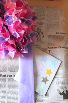 Handmade and Happiness: Newspaper wrapping idea