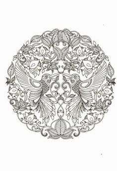 By JOHANNA BASFORD From Secret Garden Adult Coloring PagesColoring