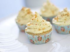 Pistazien-Marzipan-Cupcakes