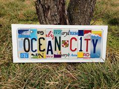 OCEAN CITY Custom Recycled LICENSE Plate Art by CustomPlateArt4U, $63.00