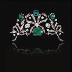 Emerald and diamond tiara, circa 1870 - Sotheby's
