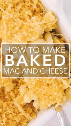 This Creamy Baked Mac and Cheese is just what your carb-loving soul needs! Macaroni bathed in rich creamy cheese sauce topped with a flavorful breadcrumb topping and baked to perfection. Creamy Baked Mac And Cheese Recipe, Best Mac N Cheese Recipe, Macaroni Cheese Recipes, Best Mac And Cheese, Creamy Cheese, Cashew Cheese, Snack Recipes, Cooking Recipes, Yummy Recipes
