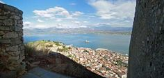 Ascent to Palamidi Fortress in Nafplio. Panorama from step 798.