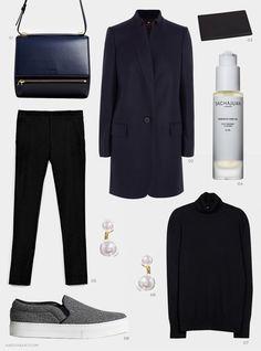 black navy blue comfy elegant