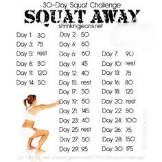 30 day squat challenge | Workouts To Lose Weight Fast