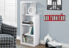 5 fixed open concept display shelves for your books and decorative objects Changing Wall Color, Small Bookcase, Contemporary Bookshelf, Furniture Decor, Furniture, Simpli Home, Particle Board, Living Spaces, Hall Furniture