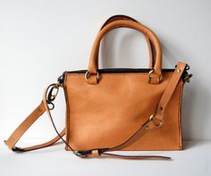 Tan Leather Small Satchel Handsched Stylish And Trendy Handbag Features There