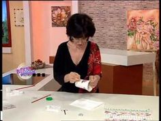 Mirta Biscardi - Bienvenidas TV - Decoupage sobre Loza - YouTube