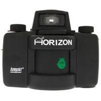 Lomography Horizon Kompakt Camera (Black) by Lomography. $289.95. The Horizon Kompakt has a 28mm multicoated swing-lens that sweeps across and sees a full 120 degrees of vision. Each shot yields a 58mm long negative – nearly the width of two standard frames! Fixed aperture (f/8) and focus means that all you have to do is point, and shoot! Day and Night shutter settings afford you full 24-hour and indoor / outdoor access. And, an uncoupled shutter release and advance means ...