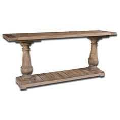 Stratford Fir Wood Console Table Uttermost Console/Sofa Tables Accent Tables Living Room F Wood Sofa Table, Rustic Console Tables, Sofa Tables, Rustic Table, Entryway Tables, Coffee Tables, Dining Table, Chesterfield Sofas, Sofa Couch