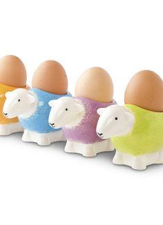 Sheep egg cups @Sarah de Bruin