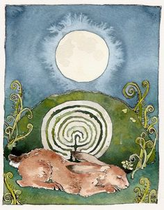 Danielle Barlow | WATERCOLOR | The Beltane Hare