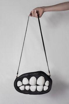 Teeth Shoulder Bags from LARISSA HADJIO larissahadjio.com