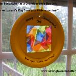"""Frugal Grandparent's Day Gift: Homemade Suncatcher.A simple gift made by little hands! """"Happy Grandparents Day from your Little Sunshine! Happy Grandparents Day, Crafts For Kids, Diy Crafts, Little Learners, Simple Gifts, Best Teacher, Suncatchers, Better Life, Homemade Gifts"""