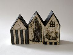 dreamtown  ceramic house  ceramic miniature  by InnDreamGallery