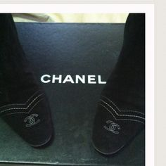 AUTHENTIC CHANEL BLACK SUEDE BOOTS ❤️ Authentic Chanel Black Suede Mid Calf Boots. Zip up sides w/Chanel CC Logo on zipper pull. Brand new soles & heel lifts. True to size. Very Slight scuffs from normal wear, very good condition. Reasonable Offers Only Please. NO TRADES CHANEL Shoes Heeled Boots