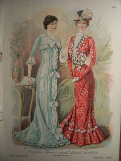 VICTORIAN FASHIONS / 1900s Pattern Advertisement Butterick Victorian Dresses Gowns Edwardian Costumes Vintage Fashions, via Etsy.