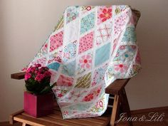Sweet Divinity Diamond Quilt - with great tutorial