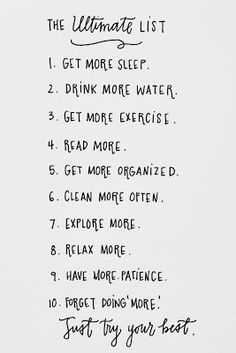 My to-do list :)