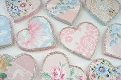 Heart and Scrapbook Paper Souvenirs.
