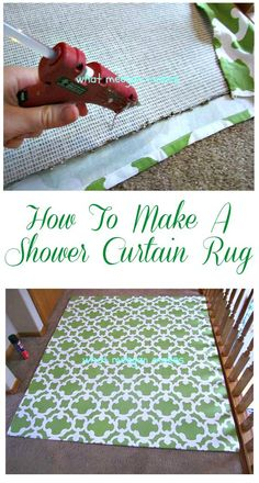 How To Make a Shower Curtain Rug by meeganmakes.com