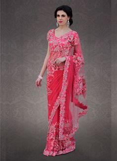Red Shade #Net Saree can i have the price of this saree?