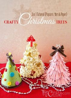 Three adorable mini Christmas trees to make for your holiday table.