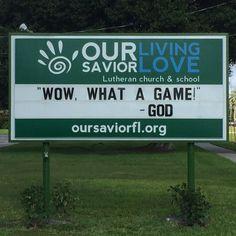 Church sign, playoff edition