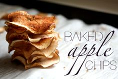 Fall is coming which means it is APPLE SEASON!!! Apple Chips - Baked Apple Chips