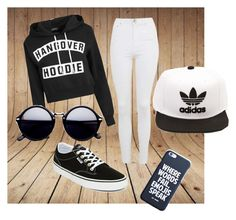 """""""hangover hoodie"""" by jasendanestyles on Polyvore featuring Topshop, Vans and adidas"""